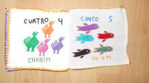 Children's cloth books in Tsotsil and Spanish